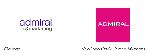 Admiral PR logos old and new