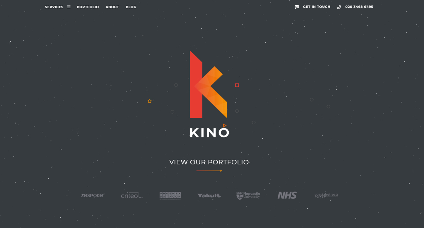 Image of Kino Creative's Brand New Website Homepage